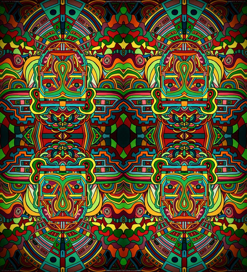 """Four Agents"" - Digital art by Derek R. Audette"