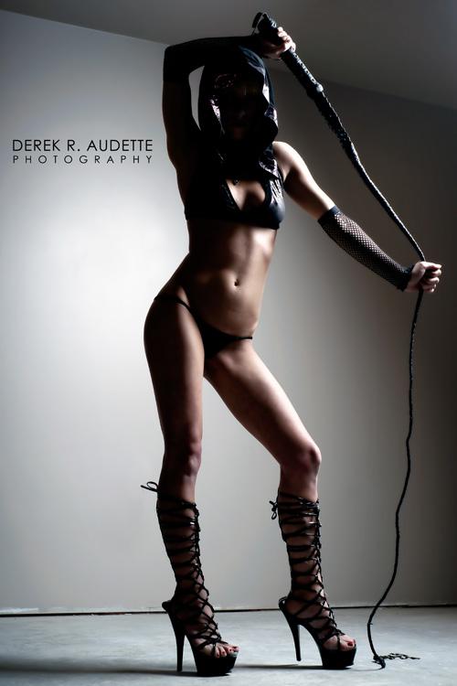 Woman Holding Bull-Whip - Photgraphy by Derek R. Audette